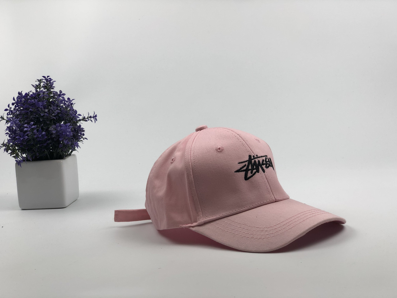 Кепка бейсболка Stussy (розовая)