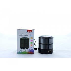 Портативная bluetooth колонка WS-887 ФМ, MP3, USB, радио, блютуз Чёрная, фото 2