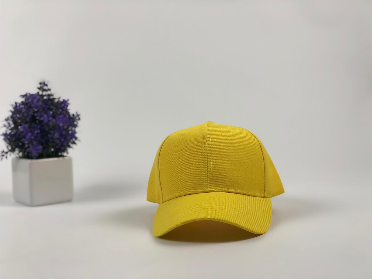 Кепка бейсболка Style (желтая)