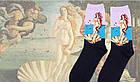 Носки Our Tanks Картины - высокие - Рождение Венеры (Ботичелли), фото 3