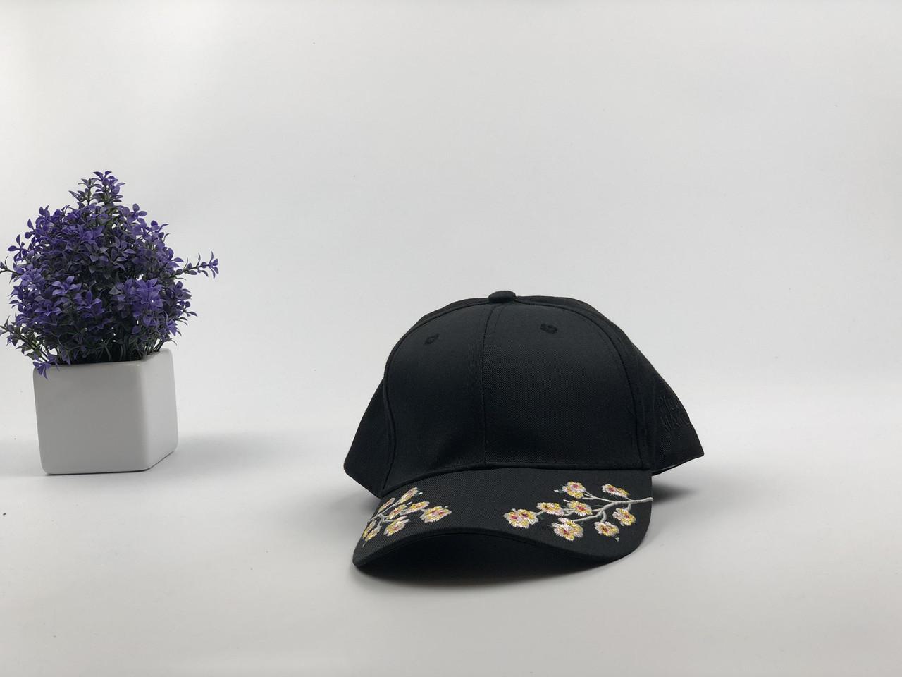Кепка бейсболка Сакура (черная)