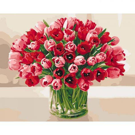 "Картина по номерам ""Жгучие тюльпаны"" КНО3058, фото 2"
