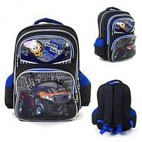 Рюкзак школьный С 43580 1 отделение, 3 кармана, мягкая спинка, в пакете