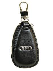 Автоключница шкіра F633 black Audi