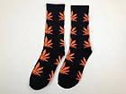 Носки HUF Plantilife - высокие - черные оранжевый лист, фото 2
