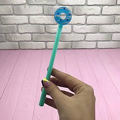 Ручка гелевая Фламинго Пончик Синяя цвет чернил черный