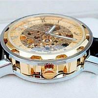 Winner Мужские классические механические часы c автоподзаводом Winner Simple Gold 1106