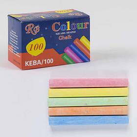 Мел для рисования цветной 100 мелков, 5 цветов SKL11-184374