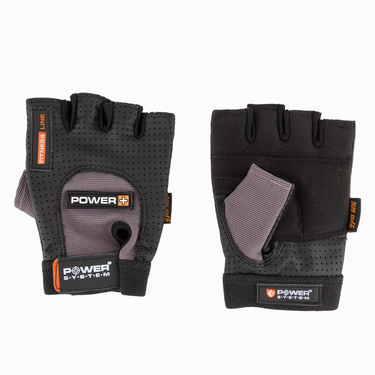 Перчатки для фитнеса и тяжелой атлетики Power System Power Plus PS-2500 L Black and Grey SKL24-252452