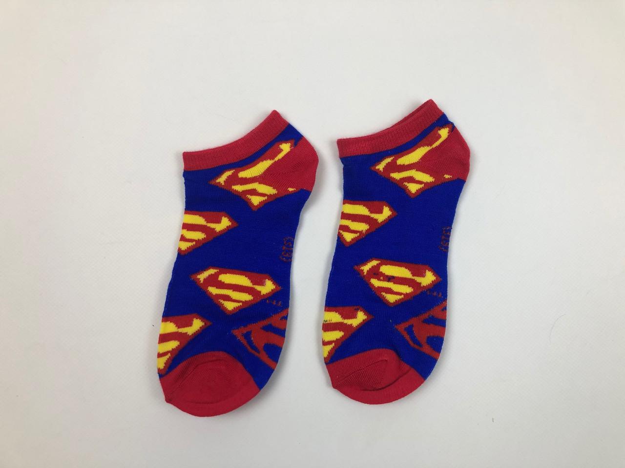 Носки Marvel DC pattern - Низкие - Синие - Супермен