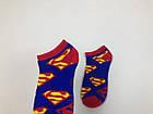 Носки Marvel DC pattern - Низкие - Синие - Супермен, фото 4