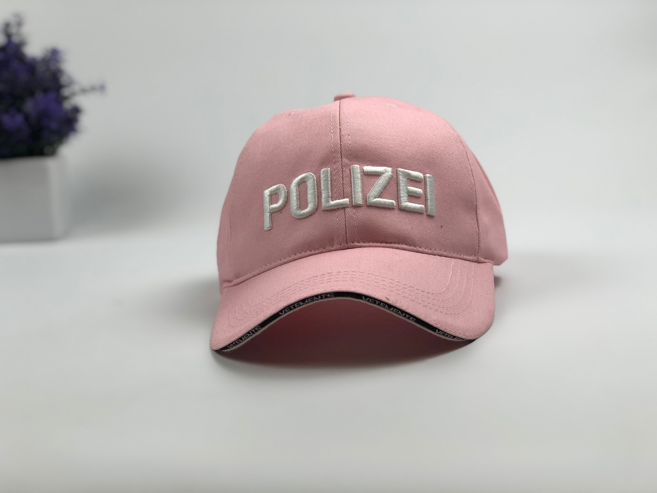Кепка бейсболка Polizei (розовая)