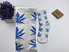 Носки HUF Plantilife - высокие - белые голубой лист, фото 4