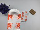 Носки HUF Plantlife низкие - белые оранжевый лист, фото 3