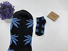 Носки HUF Plantlife низкие - черные голубой лист, фото 2