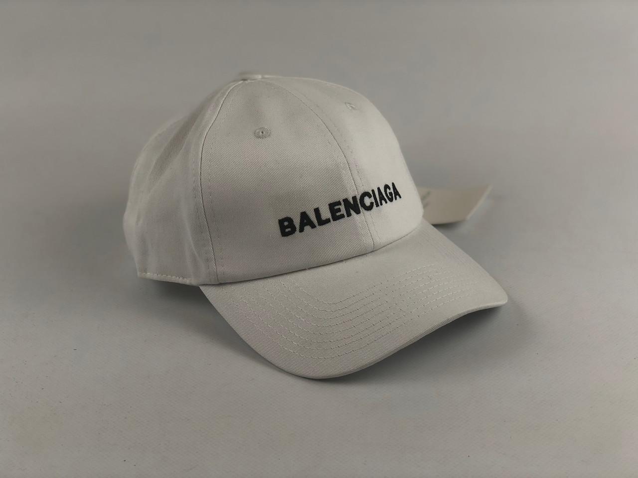 Кепка бейсболка Balenciaga  Lux (белая)