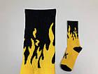 Носки For VDay Огонь - Высокие - Черно-желтый, фото 3