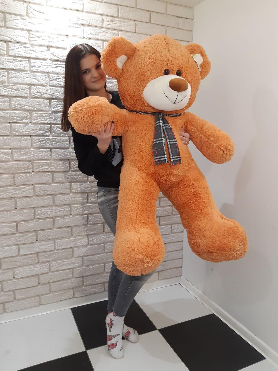 Большой мягкий Медведь - Светло-Коричневый - 1.45 метра (145 см)