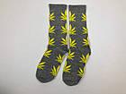 Носки HUF Plantilife - высокие - серые желтый лист, фото 2