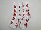 Носки HUF Plantilife - высокие - белые красный лист, фото 2