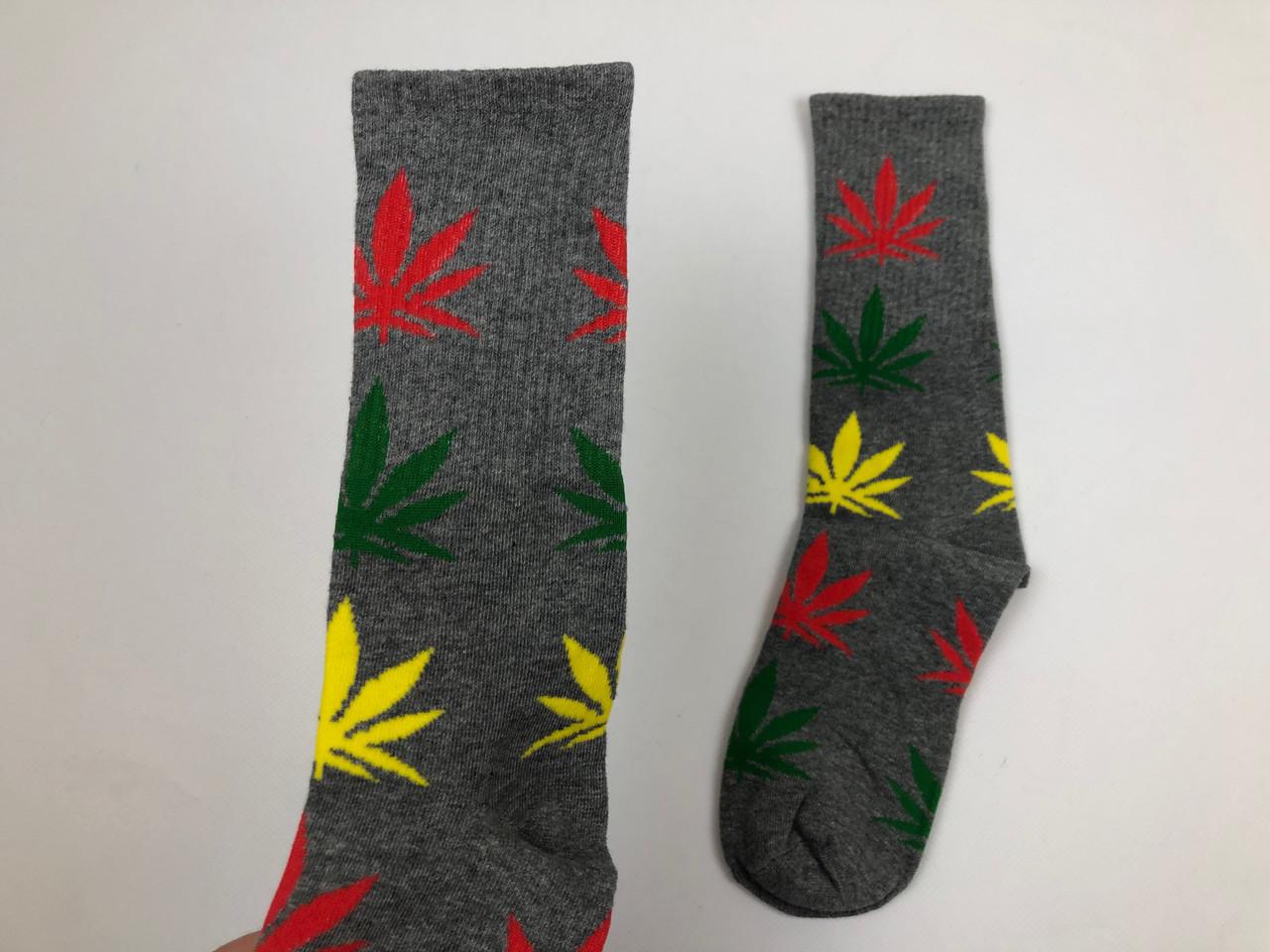 Носки HUF Plantilife - высокие - серые разноцветный лист