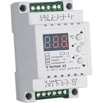 Цифровой двухканальный терморегулятор terneo k2