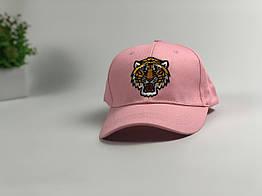Кепка бейсболка Gucci Тигр (розовая)