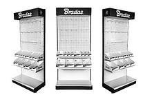 Стенд стеллаж экспозиционный металлический + выставочные коробки, EXPO38