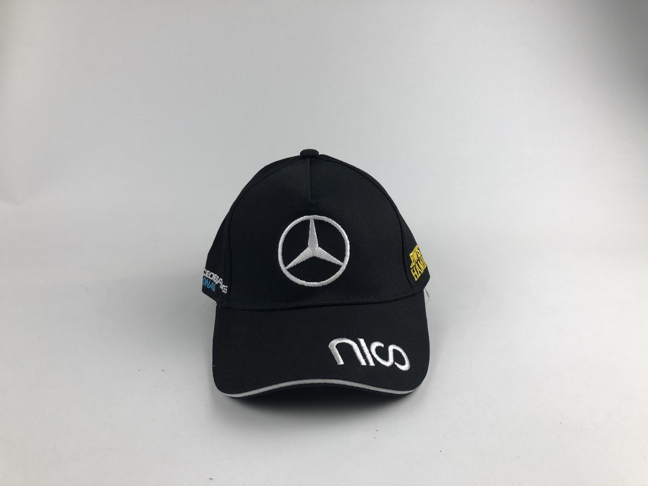 Кепка бейсболка Авто Mercedes-Benz (черная) только лого