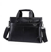Чоловіча дорожня спортивна повсякденна офісна модна стильна шкіряна сумка портфель POLO