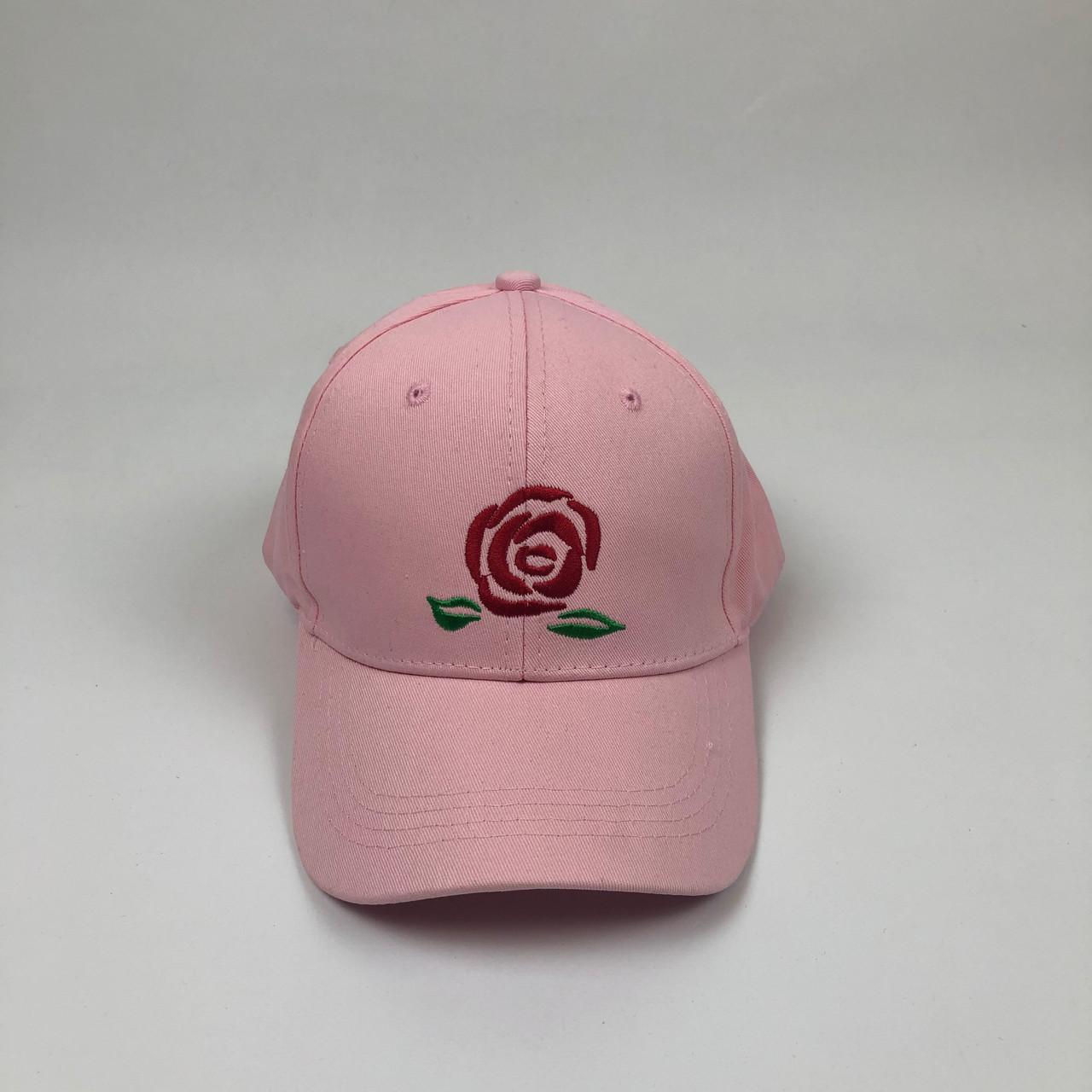 Кепка бейсболка Big Rose (розовая)