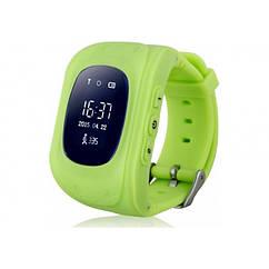 Умные Smart часы для детей с GPS трекером Baby Watch Q50 Салатовые