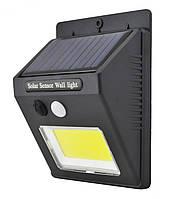 Светильник уличный с датчиком движения и солнечной панелью SH-1605 1PC 350 люмен Black