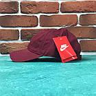 Кепка бейсболка Nike Бордовая, фото 2