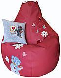 Бескаркасное кресло-пуф груша мешок детский мишкаТЕДДИ, фото 3