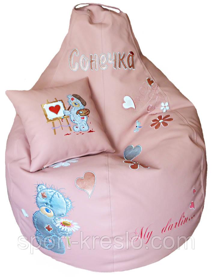 Бескаркасное кресло-пуф груша мешок детский мишкаТЕДДИ