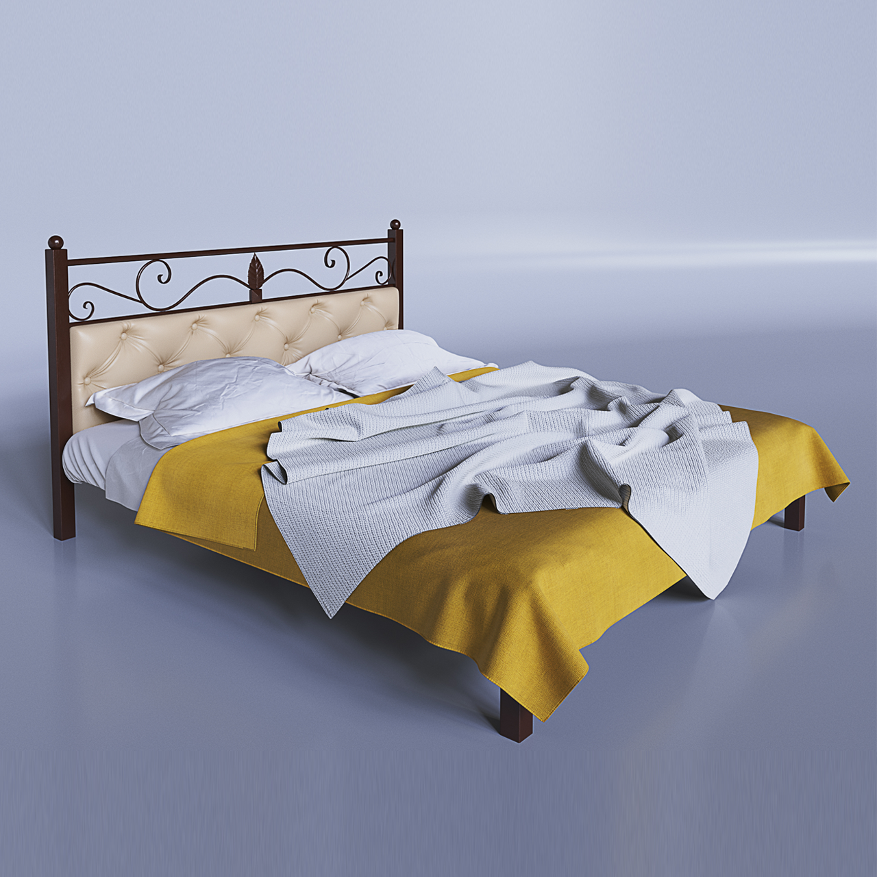Ліжко металеве двоспальне Диасция