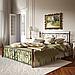 Кровать металлическая двуспальная Крокус на деревянных ногах, фото 2