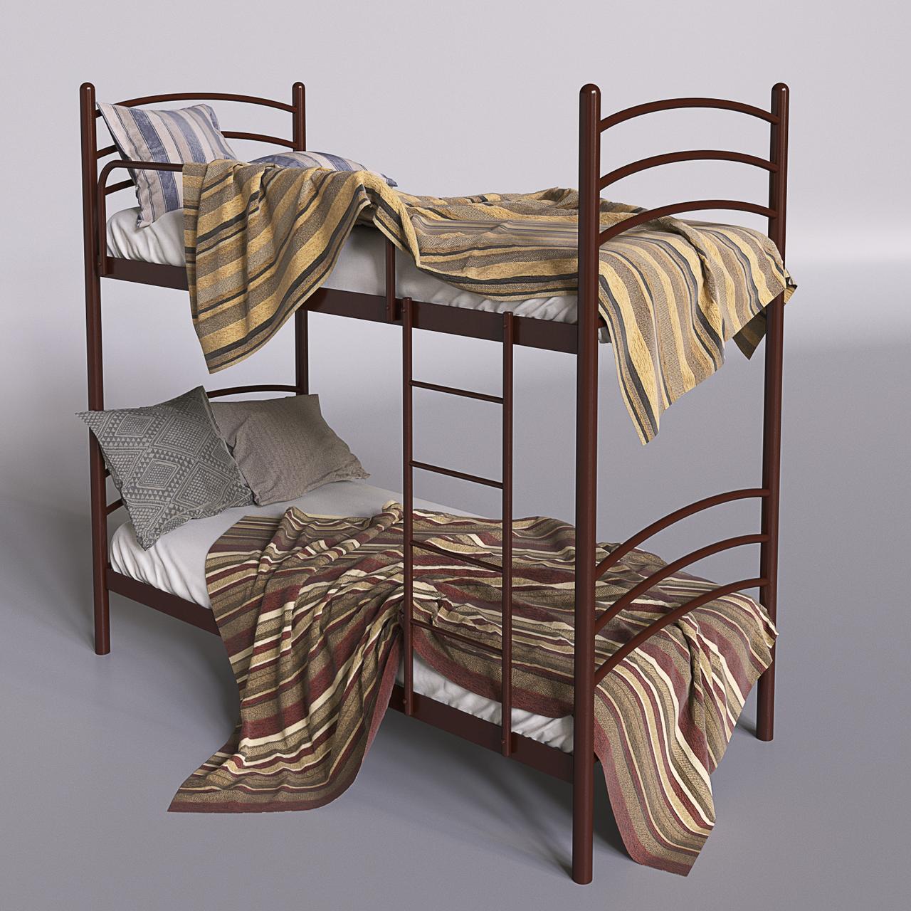 Двох'ярусне ліжко металеве Маранта