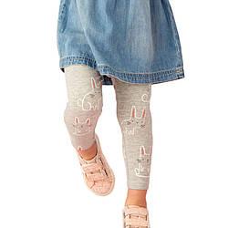 Леггинсы для девочки Серый заяц Jumping Meters (2 года) 7 лет, 128