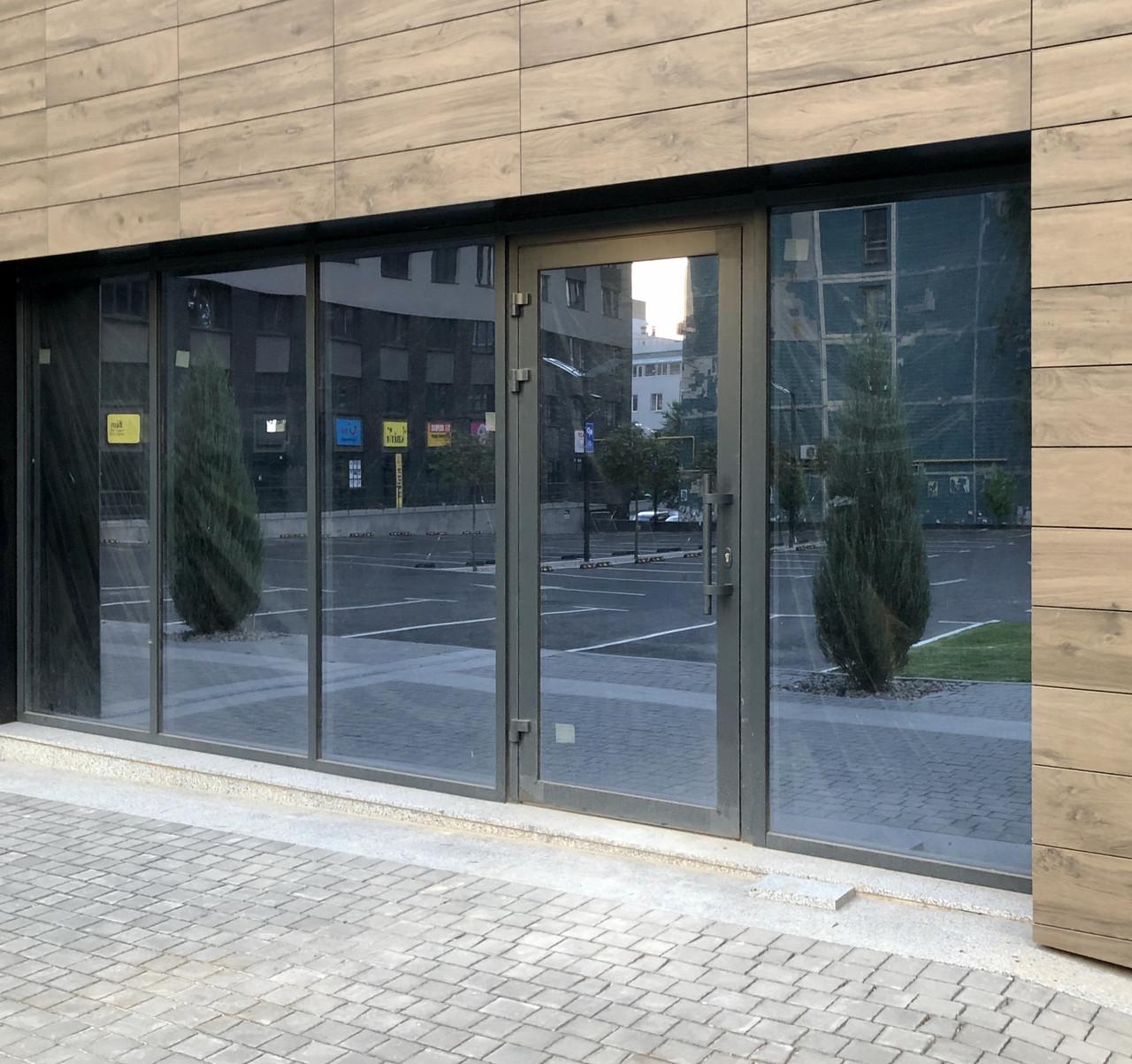 Фасадное остекление зданий алюминиевой системой ТЕКНО 50 Алюмаш