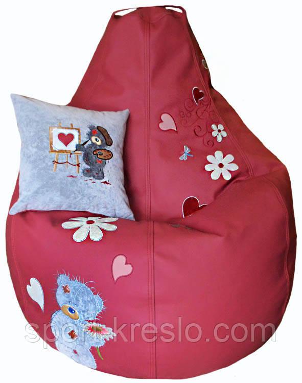 Дитяче крісло-пуф безкаркасне груша мішок ведмедик ТЕДДІ