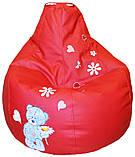 Дитяче крісло-пуф безкаркасне груша мішок ведмедик ТЕДДІ, фото 3