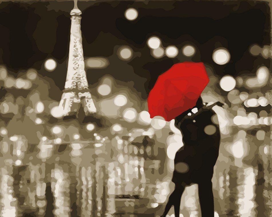 AS0047 Раскраска по номерам Романтичный Париж, В картонной коробке