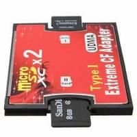 Адаптер картридер двойной слот MicroSD, SDXC, TF - CF типа I