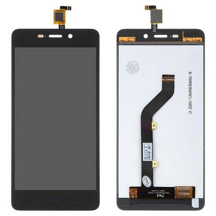 Дисплей (экран) для ZTE X3 Blade с сенсором (тачскрином) черный Оригинал, фото 2