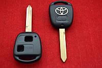 Корпус ключа Toyota Avensis 2 кнопки лезвие  Toy47
