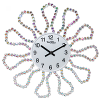 Часы настенные с камнями металл 40х40 см