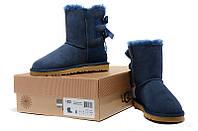 Женские угги UGG Bailey Bow Boots Navy Blue