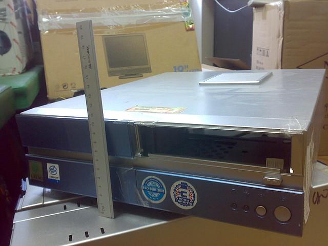 Компьютерный корпус Slim горизонтальный + БП AOpen 250W